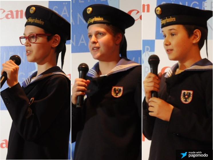 ウィーン少年合唱団 質問に答える子どもたち